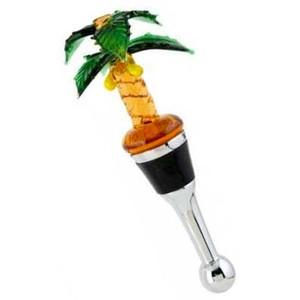 Palm Tree Art Glass Bottle Stopper - BS-085