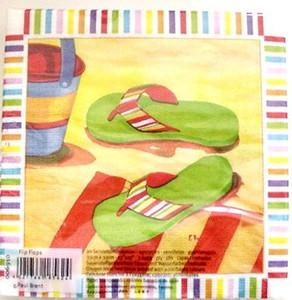 Flip Flops Paper Luncheon Napkins Pk of 20 - 006910