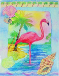 Pink Flamingo Note Cards Pack of 8 - BTN35857