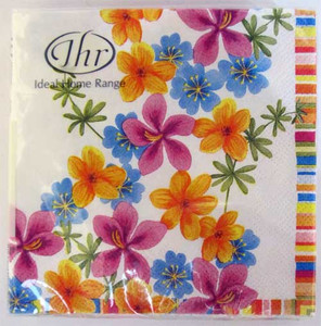 Flower Drizzle Paper Cocktail Napkins C404190