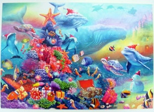Christmas Cards Underwater Wonderland Box of 10 - C72938