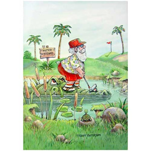 Christmas Cards Water Hazard 10 Per Box C73339