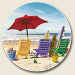 Sitting on the Beach Stone Car Coaster Cupholder CC-272