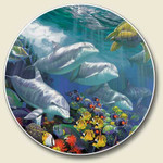 Dolphin Absorbent Stone Coaster for Car Cup Holder - CC-811