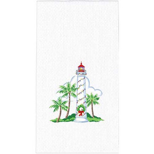 Holiday Lighthouse Hand Towel H0534