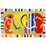 Flip Flops Rug Colorful Indoor Outdoor Washable JB-LWN001