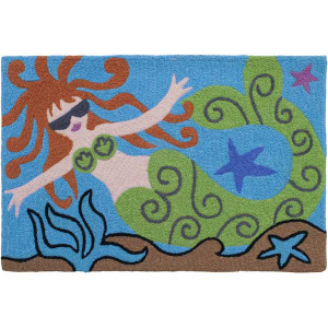 Swimming Mermaid Rug Indoor Outdoor Washable JB-MW004