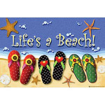 Life's A Beach! Bee-Friendly Welcome Mat JGM015