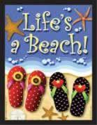 "Flip Flop Theme Magnet ""Life's a Beach"" - JP042"