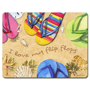 Flip Flops Glass Surface Saver Cutting Board Large- LGCUT229