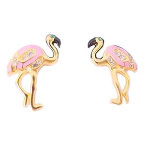 Pink Flamingo Post Earrings - P426E/123