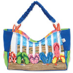 Coastal Flip Flops Medium Scoop Tote Bag PB8163