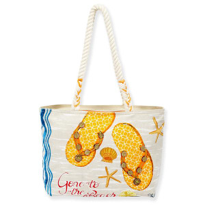 Hit the Beach - Orange - Medium Tote - PB8411E
