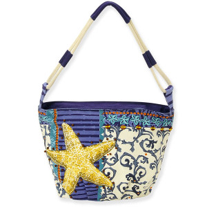 Coastal Starfish Small Rounded Tote Bag PB8473
