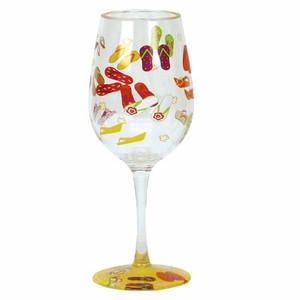 Flip Flops Acrylic Wine Goblet Set of 2 Lolita - QWG-8179