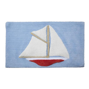 100% Cotton Sailing Rug Blue R1062BLU