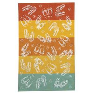 Flip Flops Color Block Cotton Tea Towel - R2063