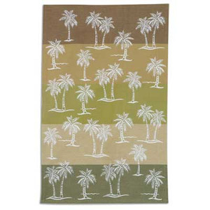 Palm Tree Color Block Cotton Tea Towel - R2093