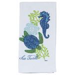 Sea Turtle and Seahorse Flour Sack Towel - R2503