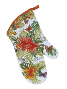 Tropical Hibiscus Flower Oven Mitt  -  R2515