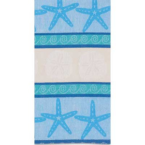 Blue Shells Jacquard Towel R2548