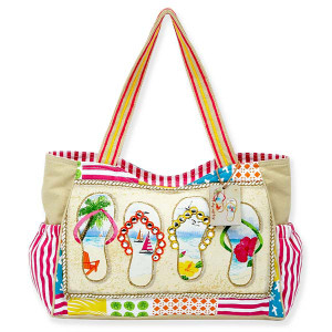 Flip Flop Beach Medium Scoop Tote Bag SC1053