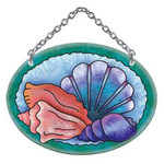 Sea Shells Art Glass Suncatcher SO102R