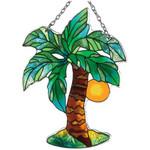 Palm Tree Art Glass Suncatcher - SSB1013