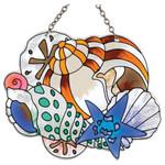 Sea Shell Art Glass Suncatcher SSC1011R