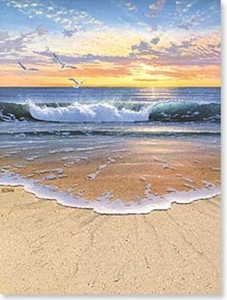 "Beach Sympathy Card ""Evening Tide"" - SYG43741"