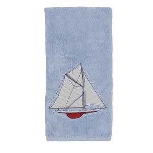 Embroidered 100% Cotton Sailing Bath Towel TE1062BBLU