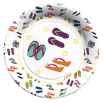 Flip Flop Paper Dinner Plates by Lolita -8 in Package - TW10-8179
