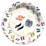 Flip Flop Paper Lunch Plates by Lolita - 8 in Package - TW9-8179