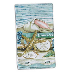 "Sea Shell ""Stories of the Sea"" Kitchen Terry Towel - V0070"
