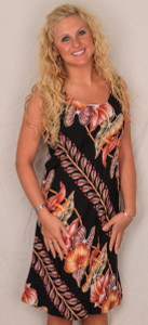 Aloha Shift Dress by Kalakaua Hawaii - Black - 405B