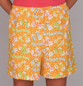 """Pajamas """"Flip Floppin' Away"""" Drawstring Shorts - Ladies - SVR739WS"""