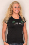 "Tropical Tee Shirt  ""Time Out"" - Black - 6039/1424"