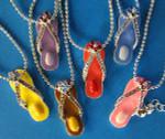 Flip Flop Silvertone Necklace FFPS