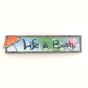 """24"""" Life is Beach Wood Sign 10810"""