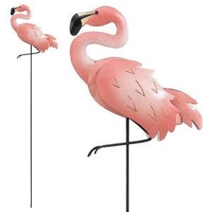Pink Flamingo Jiggle Wings Stake - 05013