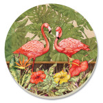Pink Flamingo Garden Stone Coasters - Set of 4 - 13595