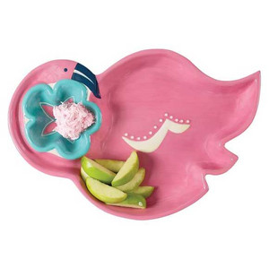 Pink Flamingo Chip and Dip Server - 17802
