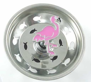 Pink Flamingo Kitchen Sink Strainer - Stainless Steel - 15SS