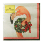Christmas Flamingo Cocktail Napkins 20 Per Pk 4NC1901T
