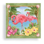 Pink Flamingo Garden Cocktail Napkins - 15006