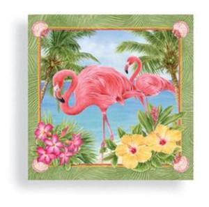 Pink Flamingo Garden Cocktail Napkins - 15006
