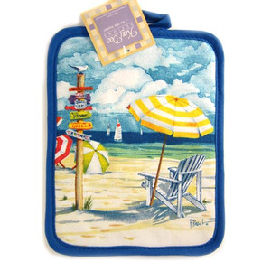 Day at the Beach Oven Pot Holder R1497F
