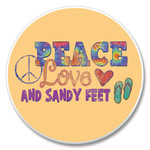 """Peace Love"" - Stone Car Coaster Cupholder 03-01321"