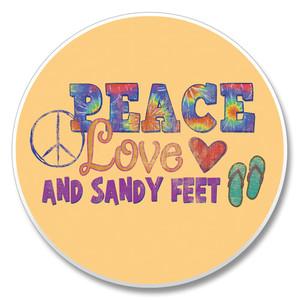 """Peace Love"" - Stone Car Coaster Cupholder 03-01321"