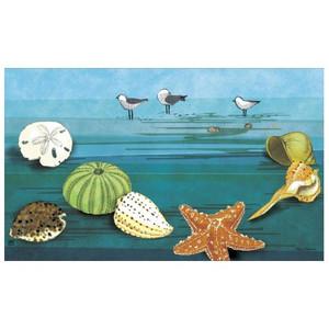 """Ocean Shells Floor Mat - 18"""" x 30"""" - MatMates - 11751"""